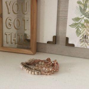 Jewelry - Pink bead/chain Wrap bracelet